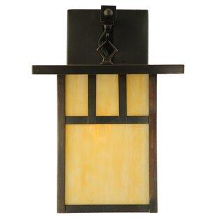 Read Reviews 1-Light Outdoor Wall Lantern By Meyda Tiffany