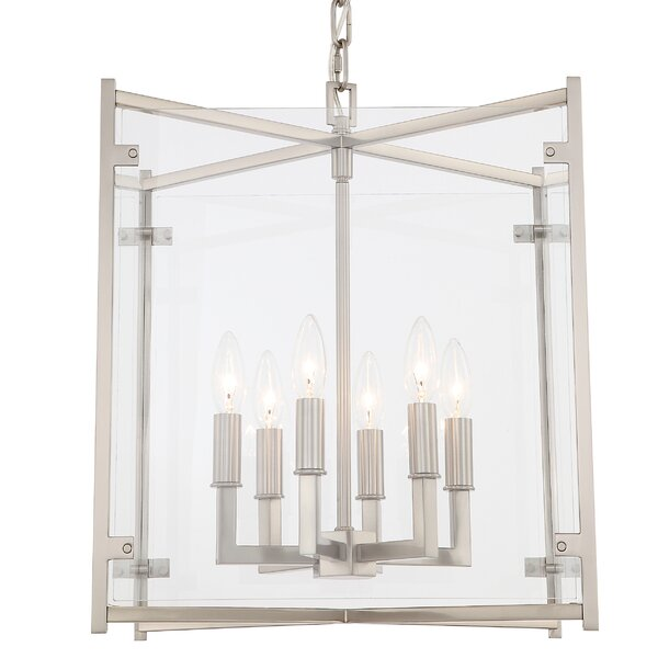 Lechner 6 - Light Candle Style Square / Rectangle Chandelier by Alcott Hill Alcott Hill