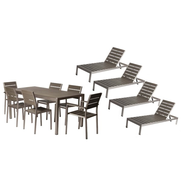 Carrell 11 Piece Patio Set by Orren Ellis