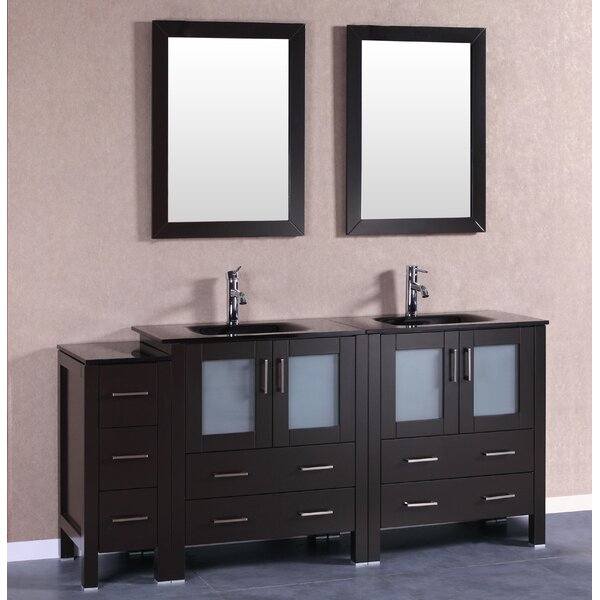 Trent 71 Double Bathroom Vanity Set with Mirror by Bosconi