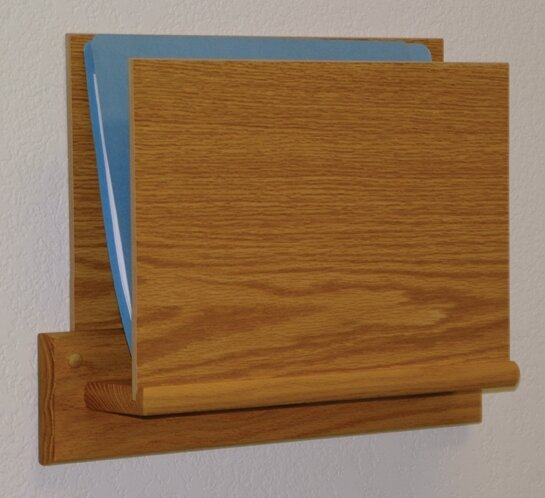 Open End Single Chart Holder - HIPPAA Compliant by Wooden Mallet