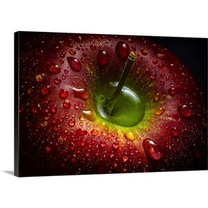 'Red Apple' by Aida Ianeva Photographic Print on Canvas by Great Big Canvas