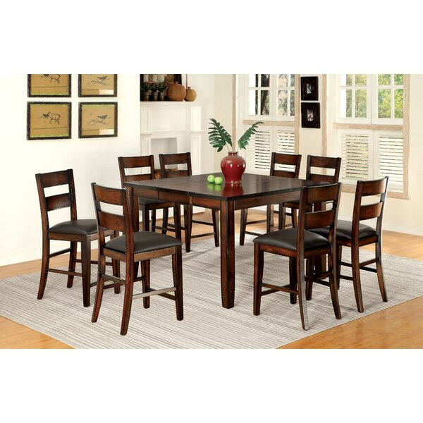 Maliana 9 Piece Counter Height Extendable Dining Set by Latitude Run