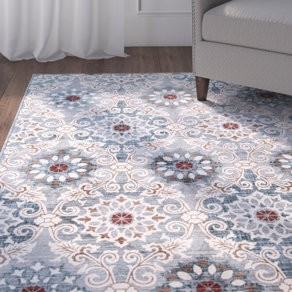 Burnley Blue Area Rug by Charlton Home