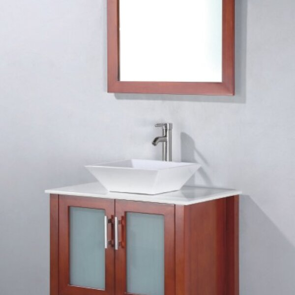 Adrian 24 Single Bathroom Vanity Set with Mirror by Adornus