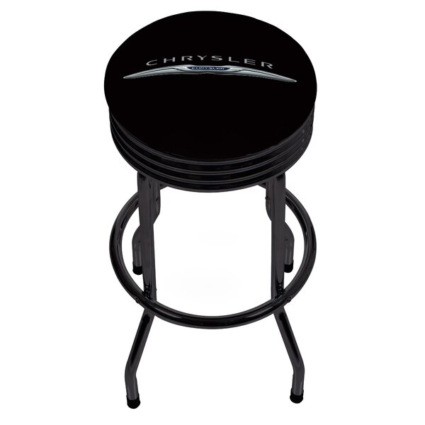 Chrysler Ribbed 28.5 Swivel Bar Stool by Trademark Global
