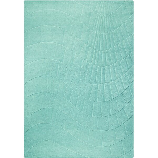 Terraza Hand-Tufted Aqua Area Rug by M.A. Trading