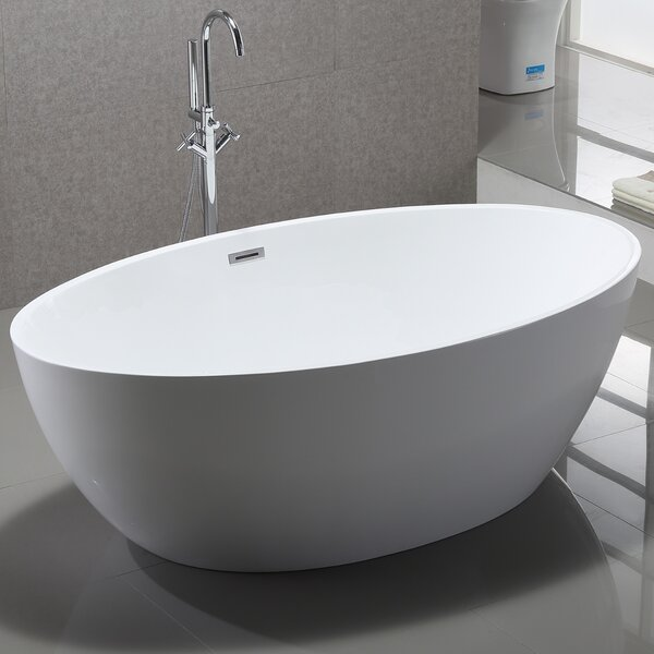 69 x 39 Freestanding Soaking Bathtub by Vanity Art