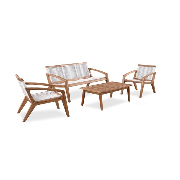 Monique 4 Piece Patio Chair Set by Corrigan Studio