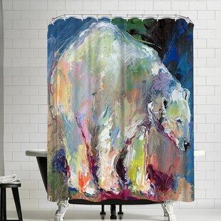 Price Check Richard Wallich Polar Bear Shower Curtain ByEast Urban Home