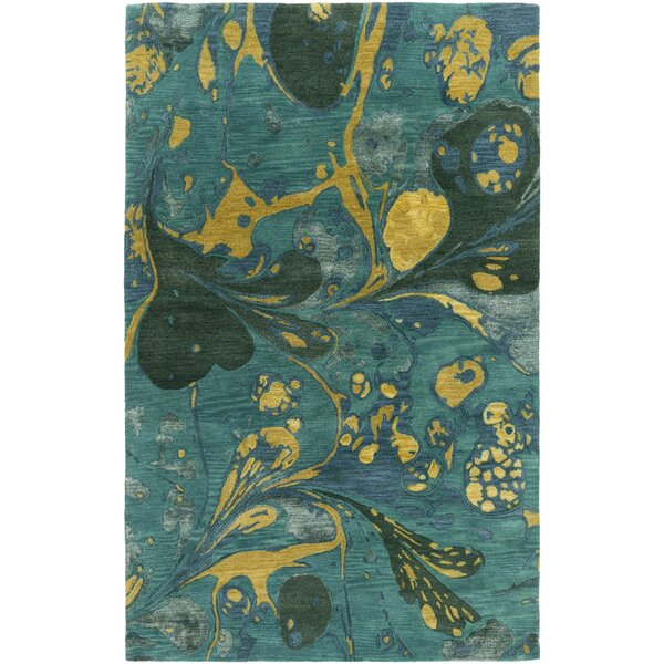 Asheville Teal Area Rug by Latitude Run