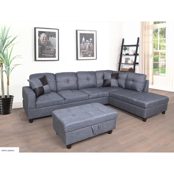 Best Price Romeo Sectional With Ottoman