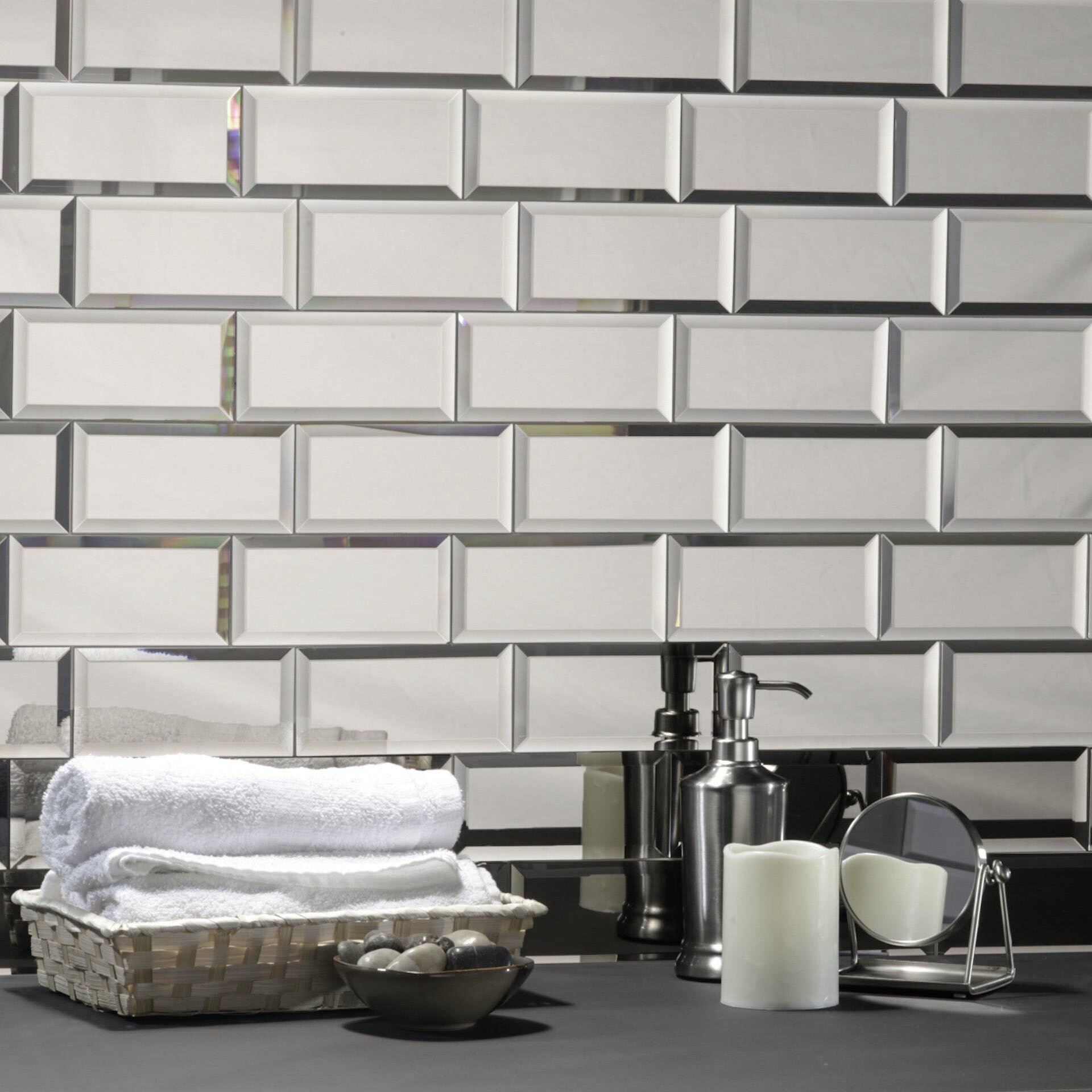 Echo Mirror Tiles Naturally Enlarge Your Home Or Office. Due To The Tileu0027s  Reflective Mirror