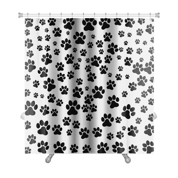 Cappa Dog Footprint Over Premium Shower Curtain by Gear New