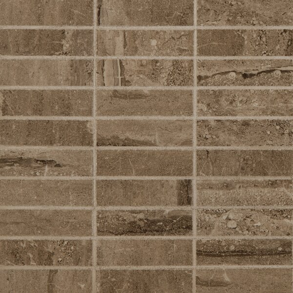 Pietra 1 x 4 Porcelain Mosaic Tile in Dunes Stacked by MSI