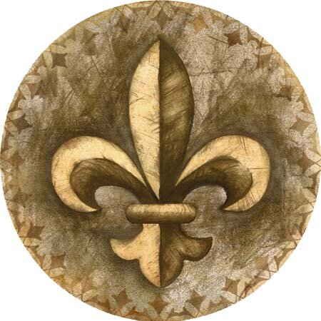 Fleur de Lis Coaster (Set of 4) by Thirstystone