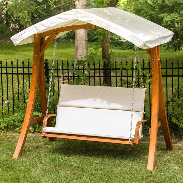 Porch Swing with Canopy by Leisure Season Leisure Season