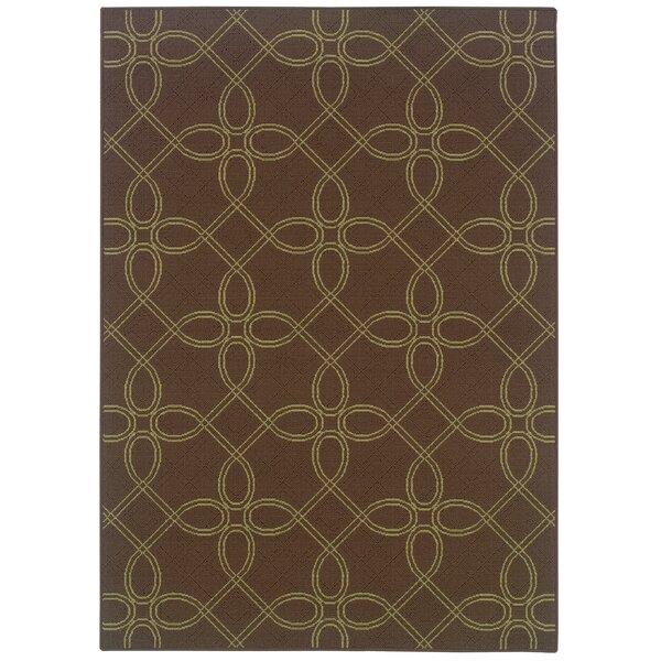Newfield Brown/Green Indoor/Outdoor Area Rug by Threadbind