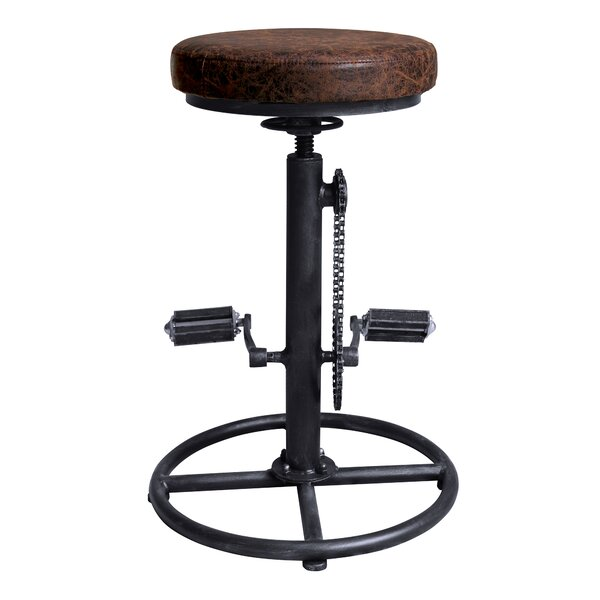 Givens Adjustable Height Swivel Bar Stool by Williston Forge