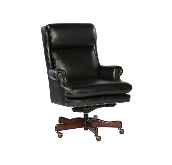 Anabelle High-Back Leather Executive Chair by Darby Home Co