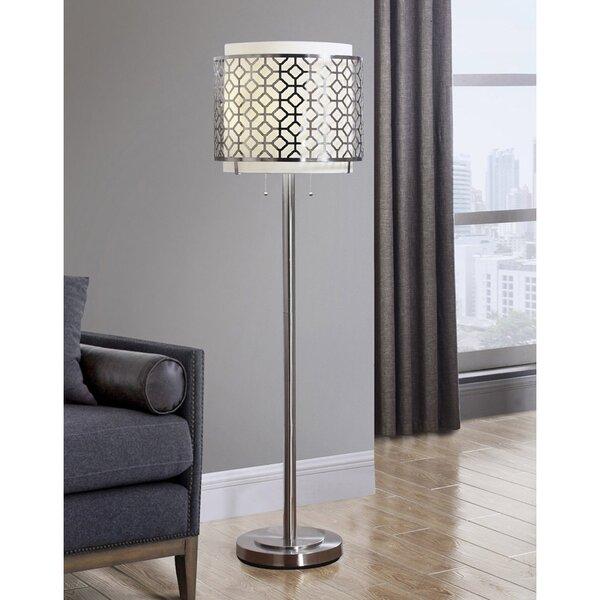 "Lindel 61"" Floor Lamp by Rosdorf Park"