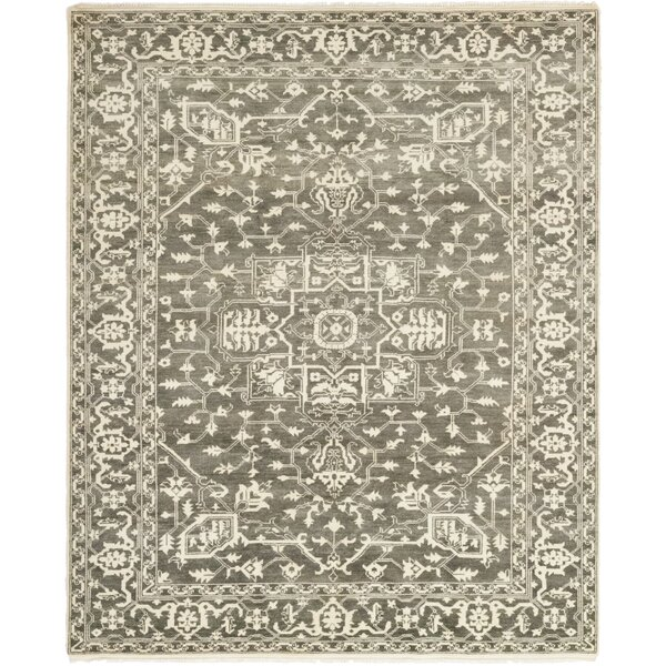 One-of-a-Kind Loftus Hand-Knotted Wool Ivory Indoor Area Rug by Canora Grey