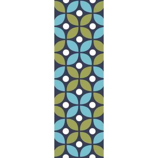 Miranda Green/Aqua Indoor/Outdoor Area Rug by clairebella