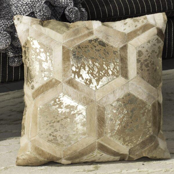 Jordynn Metallic Natural Throw Pillow by Everly Quinn