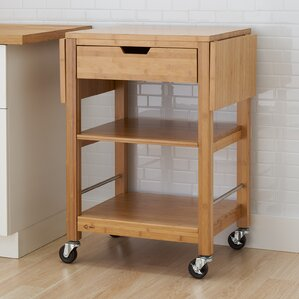 Wenlock Bamboo Kitchen Cart With Drop Leaf