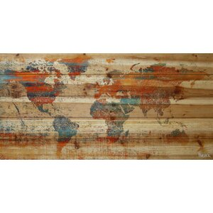 'Warm World' Painting Print on Natural Pine Wood by Marmont Hill