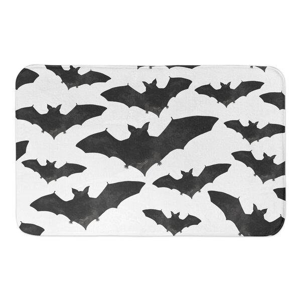 Bat Print Bath Rug by The Holiday Aisle