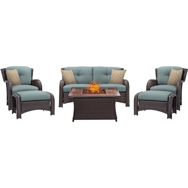 Asherman 6 Piece Sofa Set with Cushions by Sol 72 Outdoor