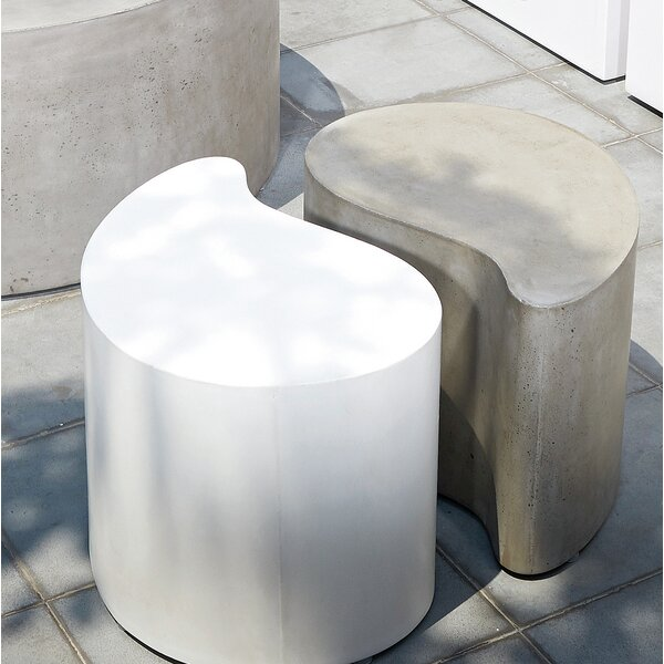 Paired Concrete Side Table