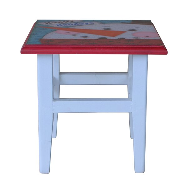 Holiday Square Printing Stool by Attraction Design Home