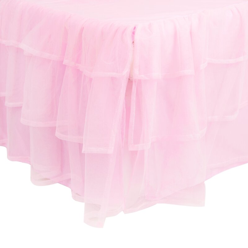 Triple Layer Tulle Bed Skirt  sc 1 st  Wayfair & Girls Tulle Canopy | Wayfair