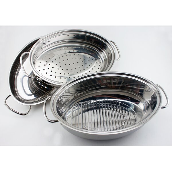 Eclipse 4 Piece 11.75 Oval Roaster Set by BergHOFF International