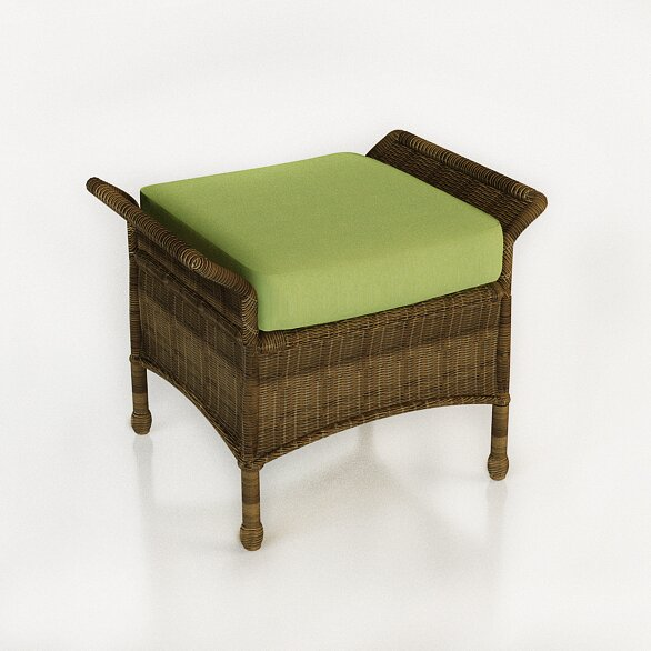 Rockport Ottoman with Cushion by Forever Patio
