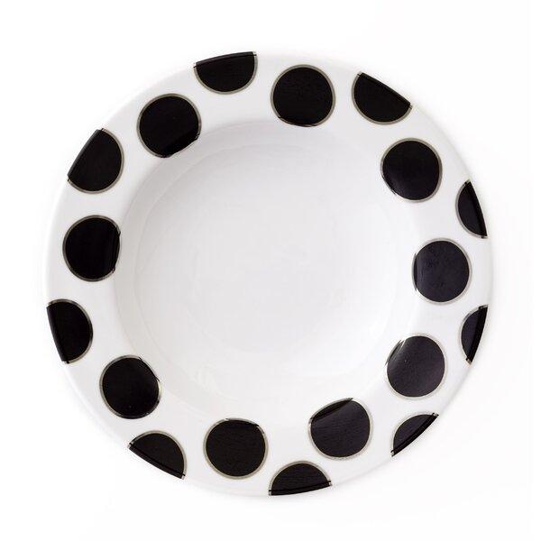 Black Pearl Rim Soup Bowl by Darbie Angell
