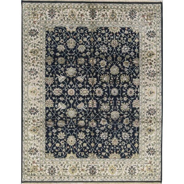 One-of-a-Kind Bradley Handwoven Black/Ivory Indoor Area Rug by Bokara Rug Co., Inc.