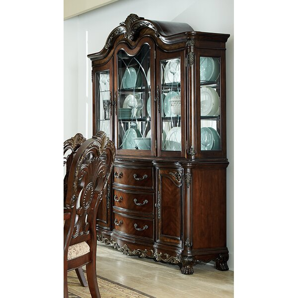 Chalus Lighted China Cabinet by Astoria Grand Astoria Grand