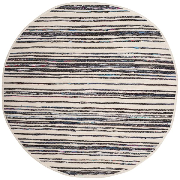 Sanchaya Hand-Woven Ivory/Charcoal Area Rug by Bungalow Rose