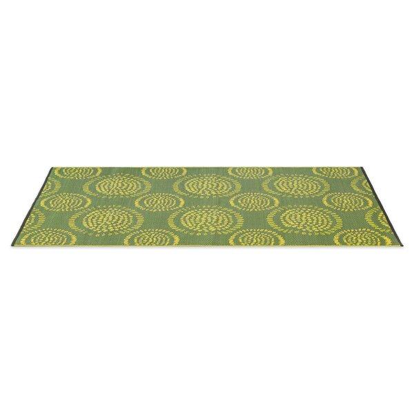 Calandre Reversible Hand-Woven Green Indoor/Outdoor Area Rug by Ebern Designs