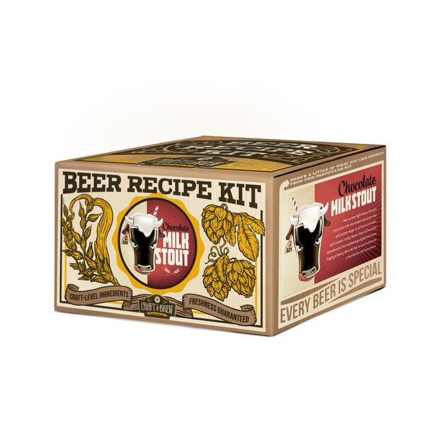 Chocolate Milk Stout Beer Recipe Kit by Craft A Brew