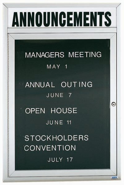 Directory Cabinet Enclosed Wall Mounted Letter Board by AARCO