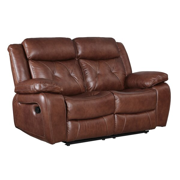 Casto Leather Reclining Loveseat by Red Barrel Studio