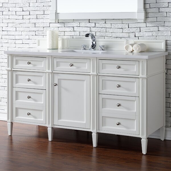 Deleon 60 Single Cottage White Bathroom Vanity Set by Darby Home Co
