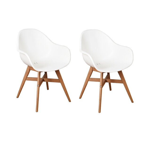 Beams Teak Patio Dining Chair (Set of 2) by Ivy Bronx