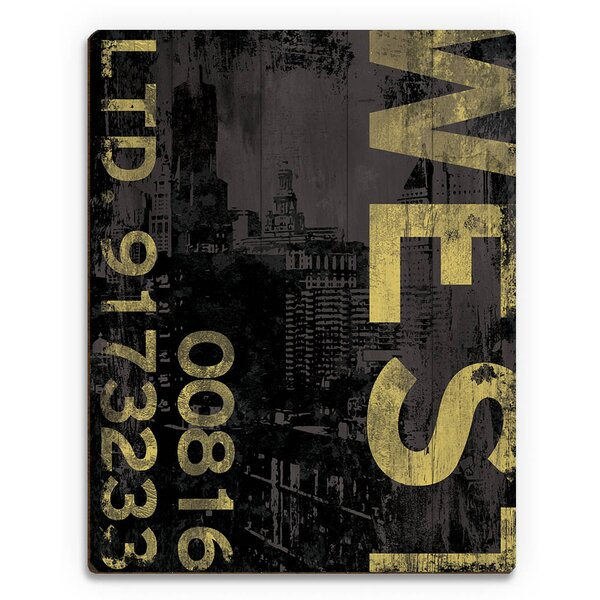 West Industry Graphic Art on Plaque by Click Wall Art