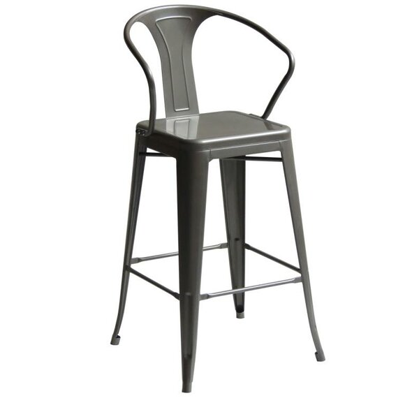 Penagos High Back 30 Bar Stool with Arms by Gracie Oaks