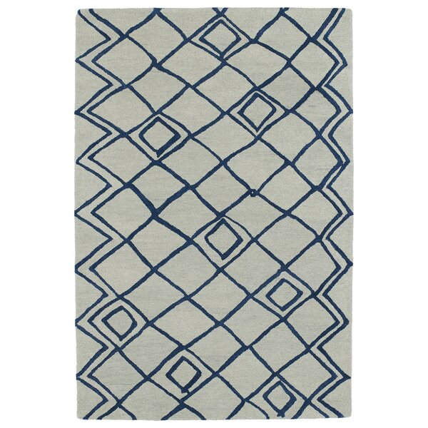 Zack Ivory Geometric Area Rug by Wrought Studio